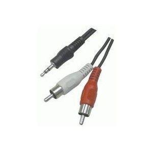 Valueline Câble audio Jack 3.5 mm / 2x RCA mâles - 15 m