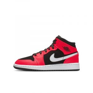 Nike Chaussure Air Jordan 1 Mid pour Enfant plus âgé - Noir - Couleur Noir - Taille 40