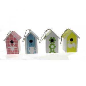 Vitakraft Maison en bois 4 modèles assortis - 20 cm - Pour oiseaux du ciel