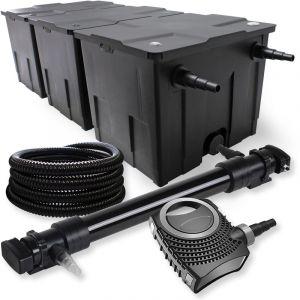 wiltec SunSun Kit de Filtration de Bassin 90000l 72W UVC 6. Stérilisateur NEO10000 80W Pompe Tuyau