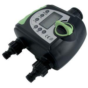 Cap Vert DY906 - Programmateur électronique 2 voies Filetage 20 x 27 ou 26 x 34 mm