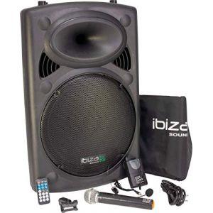 Ibiza Sound Ibiza PORT15VHF-BT Sonorisation portable USB/Bluetooth Noir