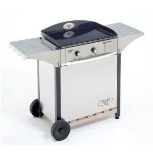 Roller Grill Pl600e - Plancha électrique 2 feux + desserte + habillage