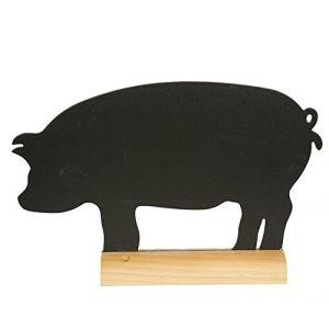 Securit Ardoise de table socle bois - Cochon - 240