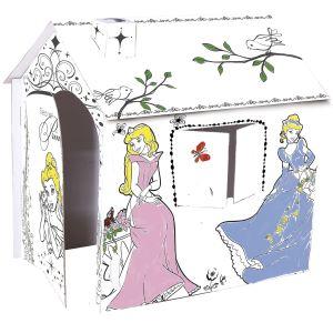 Tente de jeu en carton Princesse