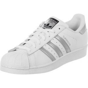 Adidas Originals Superstar, Sneakers Basses Mixte Adulte, Blanc (Ftwwht/silvmt/cblack), 44.666666666666664