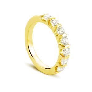 Rêve de diamants 3612030083327 - Bague en or jaune sertie de diamants