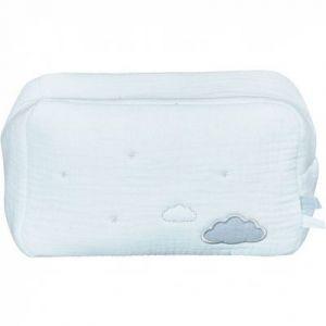 Sauthon Trousse de toilette en mousseline de coton - Lily Mint