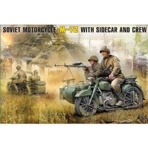 Zvezda Maquette Moto soviétique M-72 - Echelle 1:35