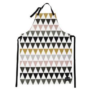 Ferm Living Tablier réglable Triangle en coton organique (70 x 95 cm)