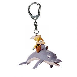 Plastoy Porte-clés Astérix sur un dauphin