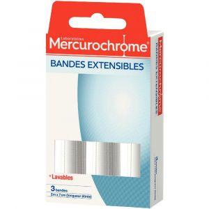 Mercurochrome Bande extensible 2 m x 7 cm - Boîte de 3