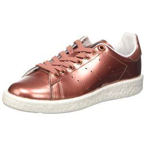Adidas Stan Smith Boost, Sneaker Bas Cou Femme, Cuivre (Copper Met./Copper Met./FTWR White), 39 1/3 EU