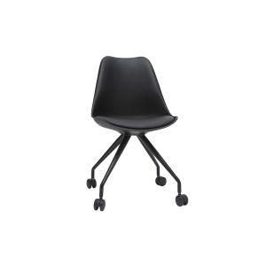 Miliboo Fauteuil de bureau design noir PAULINE