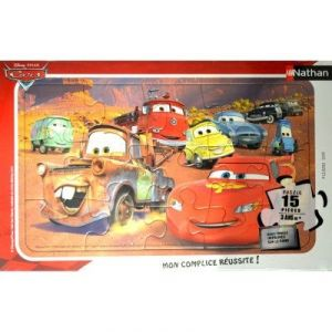 Nathan Puzzle avec cadre : le monde de Cars (15 pièces)