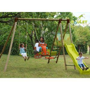 Soulet Hellebore - Portique 4 agrès en bois 2,50 m