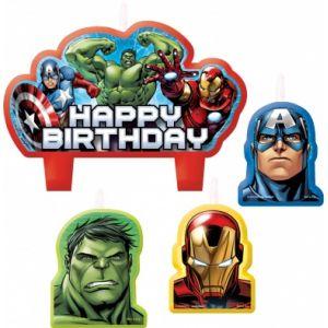 4 bougies d'anniversaire Avengers