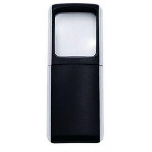 Wedo 2717501 Loupe rectangulaire à éclairage LED Noir