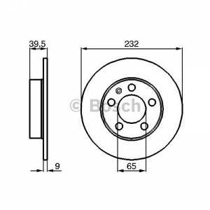 Bosch 2 Disques de frein 0986478868