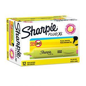 Sharpie Fluo XL Surligneur Pointe Biseautée Jaune Lot de 12