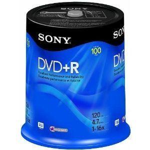 Sony 100DPR47SP - Spindle de 100 DVD+R 4.7 Go 16x