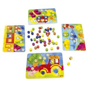 Goki 56705 - Jeu de couleurs 77 éléments