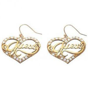 Guess UBE12902 - Boucles d'oreilles en acier doré pour femme