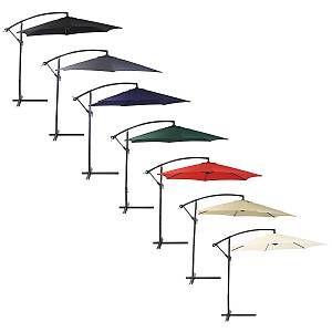 Bentley Garden - Parasol/parapluie banane suspendu - patio/jardin - noir - 3 m - CHARLES