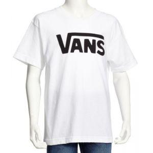 Vans CLASSIC BOYS T-Shirt Manches Courtes, Garçon, Blanc (WHITE-BLACK YB2), L