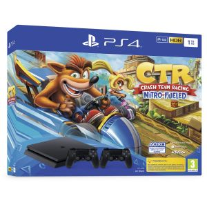 Sony Console PS4 PS4 1To Crash Team Racing + 2ème Manette