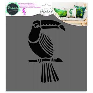 Aladine Pochoir textile ' ' Toucan 28x28 cm