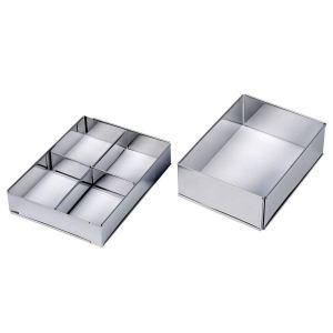 Lares 6010 - Cadre à pâtisserie rectangulaire en inox (32 x 46 cm)