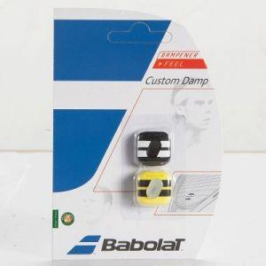 Babolat Custom Damp x2 Black/Yellow Taille Unique Antivibrateurs