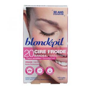 Blondépil Cire froide Visage - 20 bandes
