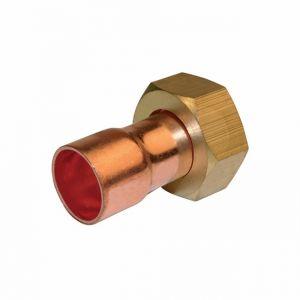 Quick Plomberie Raccord droit à écrou prisonnier laiton à visser / souder (x2) - 359 g-cl
