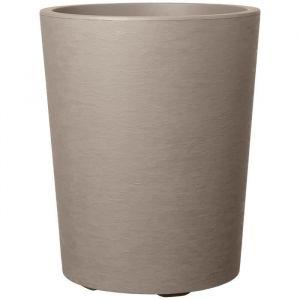 Deroma Pot de fleur Vaso Gravity avec réserve d'eau H 53,5 cm - Taupe