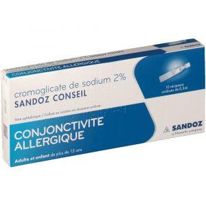 Sandoz Cromoglicate de sodium 2 % - 3 ml COLLYRE