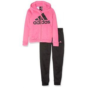 Adidas Survêtement Yg Hood Cot TS Rose / Noir - Taille 14 Ans