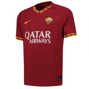 Nike Maillot de football A.S. Roma 2019/20 Stadium Home pour Homme - Rouge - Taille XL