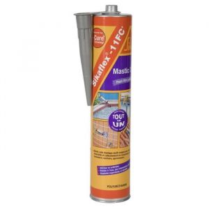Sika Flex 11 FC+, Mastic-colle multi-usages et multi-supports, 300ml, Gris béton