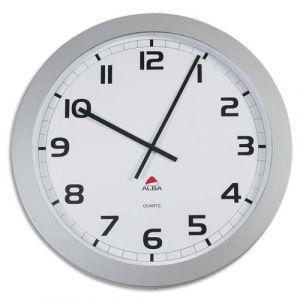 Alba Horgiant - Horloge murale ronde géante diamètre 60 cm gris métal