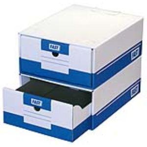 Fast 10 boîtes à archives en carton (A4)
