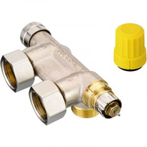 Danfoss Robinet thermostatique VHS-UN équerre coté tube 20x27 male coté radiateur 15x21 male 013G4741
