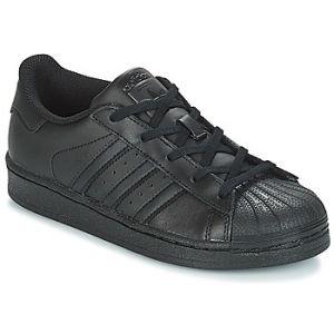 Adidas Superstar C, Chaussures de Basketball Mixte Enfant, Noir (Core Black/Core Black/Core Black Ba8381), 35 EU