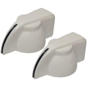 Aerzetix 2x bouton de potentiomètre pour axe 6mm Ø19.5 x 14mm blanc