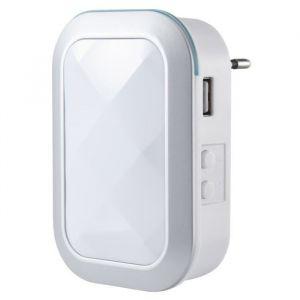 Sedea Carillon enfichable sans fil avec chargeur USB blanc