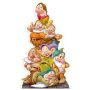 Figurine Disney en carton taille réelle Blanche-Neige et les 7 nains