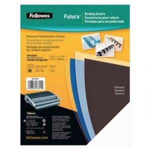 Fellowes 5376501 - Boîte de 100 couvertures Futura, A4, polypro 280µ transparent nacré