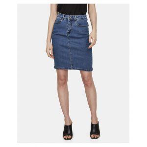 Vero Moda Jupe crayon en jean Bleu - Taille 34