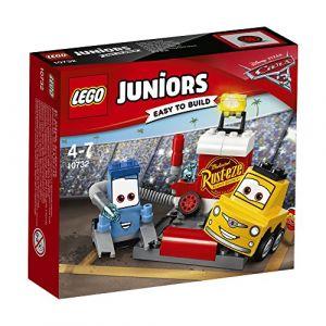 Lego 10732 - Juniors : L'Arrêt au stand de Guido et Luigi Cars 3